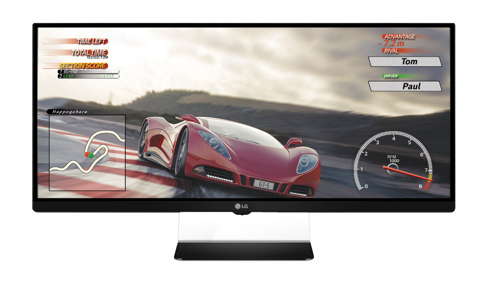 "LG Electronics (LG) today announced plans to introduce the world's first 21:9 ""UltraWide"" gaming monitor compatible with AMD FreeSync technology for fluid motion during fast gameplay. The UltraWide Gaming Monitor (34UM67) headlines LG's expanded lineup being unveiled next week at the 2015 International CES? and is the company's first 21:9 monitor specifically developed for graphics-intensive gaming. (PRNewsFoto/LG Electronics USA, Inc.)"